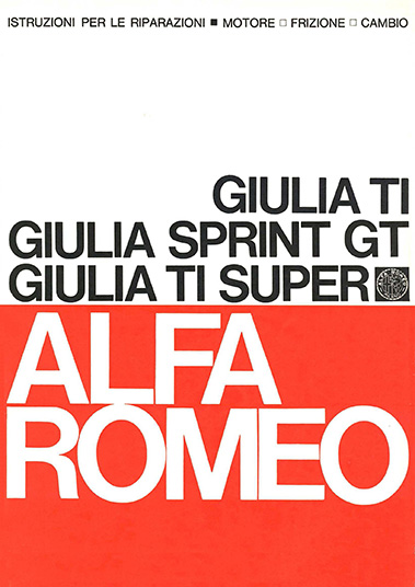 Catalogo Giulia TI - Sprint GT - TI Super