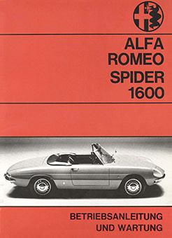 Catalogo Spider 1600 DE 1966